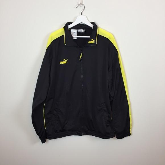 382daa828b84 Puma Men s Black and Yellow Zip Up Jacket. M 5ab3f654b7f72bd6be36503f
